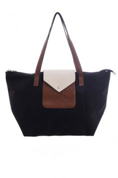 Bags :: Poppy Ultra-Light Shopper Black - The Redletter Club $89.95