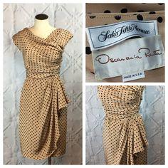 Oscar de la Renta Vintage 1970s Designer Silk Polka by MoontideVintage