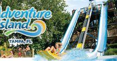 Parque Adventure Island em Tampa #viagem #miami #orlando