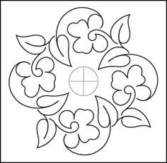 free pattern - Pansy Block - from Urban Elementz - I love their designs!