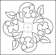 free pattern - Pansy Block - from Urban Elementz