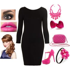 """Pink day at work"" by lovinlife1014 on Polyvore"
