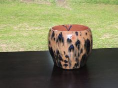 Hand thrown ceramic pottery vase.  Unique animal print glaze.  Food and dishwasher safe. by GabiLuBoutique on Etsy