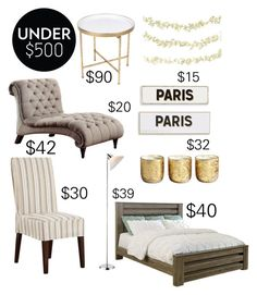"""""""Savings (room under $500)"""" by thesavingsmaster ❤ liked on Polyvore featuring interior, interiors, interior design, home, home decor, interior decorating, Homelegance, Order Home Collection, Rosanna and Illume"""