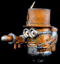 Steampunk Minion by Anglesey Steampunk Steampunk Gears, Steampunk Costume, Fine Arts Subjects, Minion Christmas, Minions Quotes, Weird And Wonderful, Yard Art, Hobbit, Metal Art