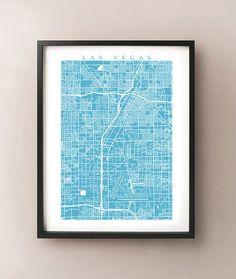 Las Vegas Map Print by CartoCreative on Etsy