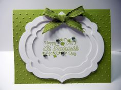 handmade greeting card ... white Label Framelits layered frame ... like the framing look ... sweet sentiment with blue bling accents ... Stampin' Up!