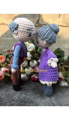 Grandpa Grandma crochet dolls Bride and Groom Crochet doll