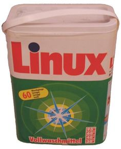 Linux Waschmittel. I think that linux could be good on some mobile computers like laptop etc.