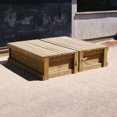 Wooden Covered Sandpit - Sand & Water