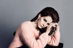 Lana Del Rey for H I <3 the earring and sweater