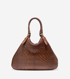 Genevieve Weave Large Triangle Tote