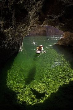 Kayaking in Emerald Cave, Colorado River in Black Canyon, Arizona....on my bucket list