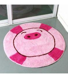 Pink Pig non-slip Bathroom Rug JU1458