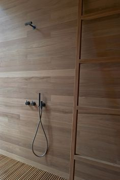 beautiful wooden shower