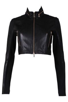 This gorgeous cropped jacket from Twin Set is such a cool little piece and now in the SALE! Truly unique and great for a layered look. Free UK shipping!