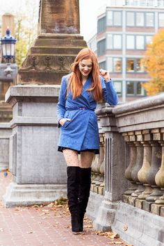 Outfit | Autumn Layering with Over Knee Boots @sachashoes - Retro Sonja Dutch Fashion Blogger Amsterdam - www.retrosonja.com