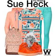 Inspired by Eden Sher as Sue Heck on The Middle.