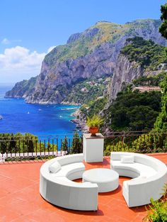 View from a luxurious terrace on the island of Capri, Italy | Amazing Photography Of Cities and Famous Landmarks From Around The World