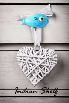 Fish shaped drawer and cabinets in bright colors. #indianshelf #doorknobs #knobs http://goo.gl/twWc1z