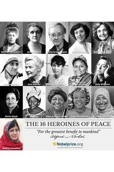 16 heroines for peace