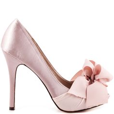 These gorgeous pumps from Luichiny are whispering your name. My Darling has a blush satin upper with a beautiful bow made of beige ribbon at the vamp. This peep toe style brings you a 4 1/2 inch heel and slight 1/2 inch platform to keep you dancing all night long.