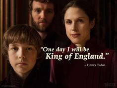 Henry Tudor, his mother Margaret Beaufort and uncle Jasper Tudor in #TheWhiteQueen