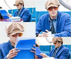 So Ji Sub at 'Ghost' Script Rehearsal! He looks good off set too!