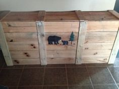 Trash Can Bin Pallet Boxes & Chests