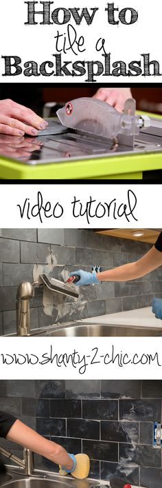How to tile a backsplash. How-to video and step-by-step tutorial.