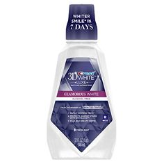 Rinse your way to a glamorous smile. Put the finishing touches on your morning smile routine with Crest 3D White Luxe Glamorous White Whitening Mouthwash. It s designed with a triple-action formula th...