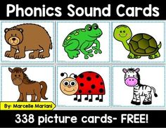 This free phonemic awareness pack includes phonic-picture cards covering sound for all 26 letters in the alphabet.  There are a total of 338 picture cards here that can be used for various phonemic awareness activities with preschool and kindergarten students.Some ways you can use these:1.