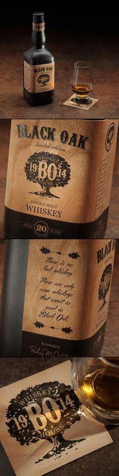BLACK OAK – Whiskey Concept. Creative Agency: Moon Troops. Creative Director: Motiejus Gaigalas. Designers: Motiejus Gaigalas & Paulius Strazdas. Photographer: Artiom Ištuganov. Lithuania.