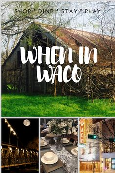 Home Team Chic: When in Waco: Where to Eat