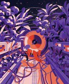 KEKNESS - Space exploration Matteo Berton maakte deze set... Art And Illustration, Illustrations And Posters, Astronaut Illustration, Illustrations Vintage, Anime Hand, Posca Art, Art Journal Inspiration, Design Inspiration, Grafik Design
