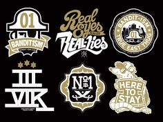 Dribbble - Misc Logos by 123klan