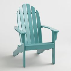 Canton Blue Adirondack Chair by World Market Adirondack Chair Cushions, Adirondack Furniture, Patio Chairs, Outdoor Chairs, Outdoor Decor, Beach Chairs, Room Chairs, Outdoor Lounge, Outdoor Spaces