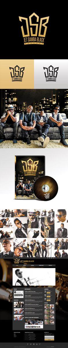 Criação da marca, do projeto gráfico do DVD, site, papelaria e redes sociais da Banda Jet Samba Black. #branding #logotipo # design #stationery #musicband #identity