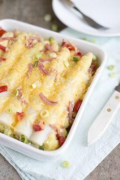 Romige ovenschotel met asperges en hamblokjes | Brenda Kookt! | Bloglovin'