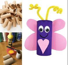 Toilet roll holder/craft roll love bug crafts for Valentine's Day. Toilet Roll Holder Crafts, Toilet Roll Craft, One Banana, Frozen Banana, Easy Valentine Crafts, Valentines, Mango Syrup, Poached Apples, Vegan Crackers