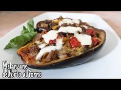 Melanzane con ripieno di verdure I Cottura in Forno 🍆 - YouTube Inexpensive Meals, Eggplant, Baked Potato, Potatoes, Baking, Vegetables, Ethnic Recipes, Youtube, Food