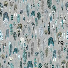 Quill - Duck Egg fabric, from the Tulipa Stellata collection by Designers Guild Duck Egg Blue Bathroom, Duck Egg Kitchen, Duck Egg Blue Living Room, Duck Egg Bedroom, My Living Room, Duck Egg Blue Office, Room Wallpaper, Fabric Wallpaper, Duck Egg Blue Fabric