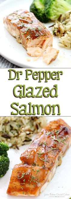 Jazz up your dinner routine with this easy and delicious Dr Pepper Glazed Salmon! Recipe includes directions for baking or grilling! AD #DPSFlavorTour