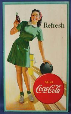 Vintage Coca-Cola bowling