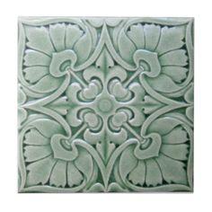 V0009 Victorian Antique Reproduction Ceramic Tile