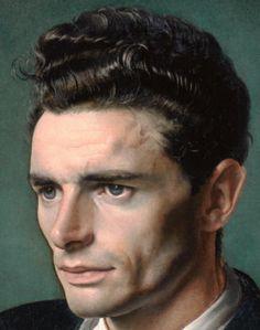 Pietro Annigoni   El Arte y su mundo autorretrato, olio su tela.