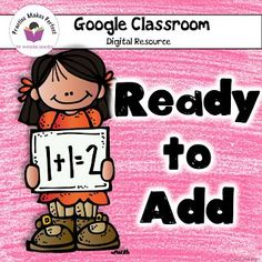 You can get these digital flashcards FREE! Addition Flashcards, Math Addition, Addition And Subtraction, Color Activities, Learning Activities, Teaching Ideas, First Grade Teachers, Math Facts, Kindergarten Classroom