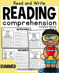 15 Summer themed basic reading checks! Each sheet has a picture, short passage, and 5 questions with a space to write the answer. These are great for morning work or extra independent or whole group reading practice. Check the preview and images to see if this will fit with your grade level.This packet comes with two options:15 pages of ONE page reading passages and questions15 pages of one FULL page of picture, story and fun question + 15 pages of questions to match each story.[Both sets…