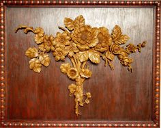 Etsy の Fine Wood Carving Bouquet Of Flowers by WoodMasterpieces