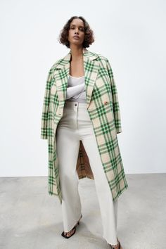 Online Zara, Check Coat, Plaid Coat, Zara United States, Online Sales, Outerwear Women, Spring Collection, Duster Coat, Kimono Top